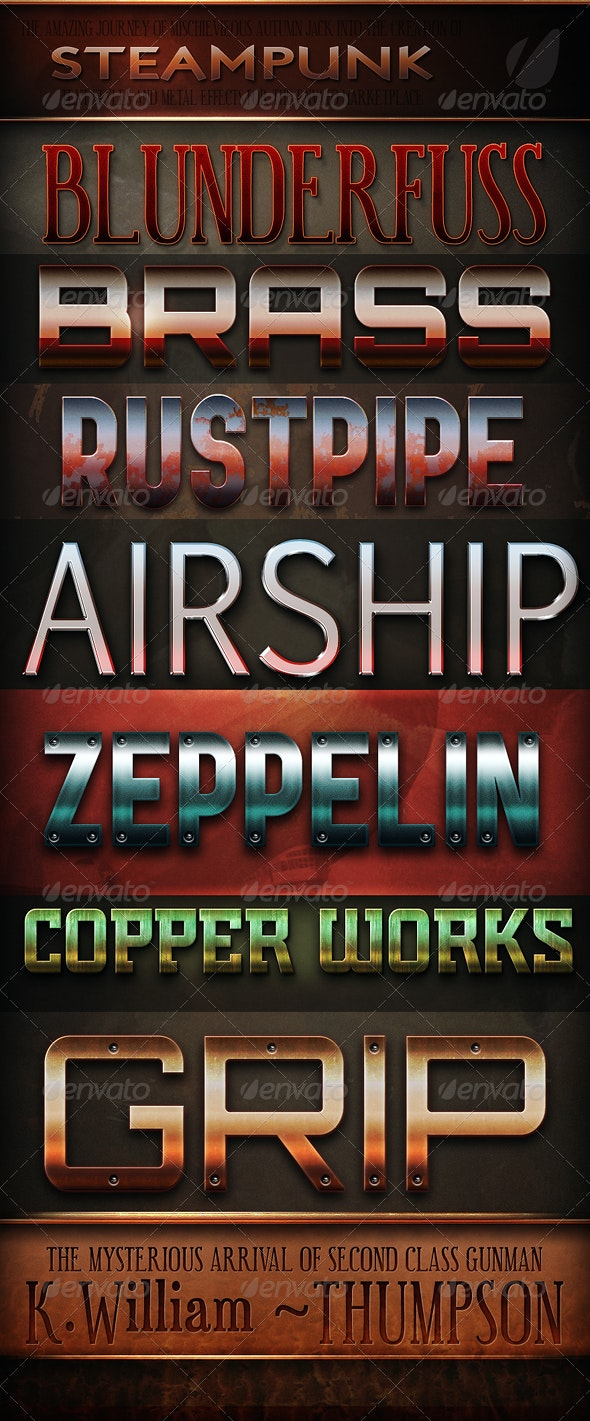 Steampunk & Vintage Text Effects  - Text Effects Styles