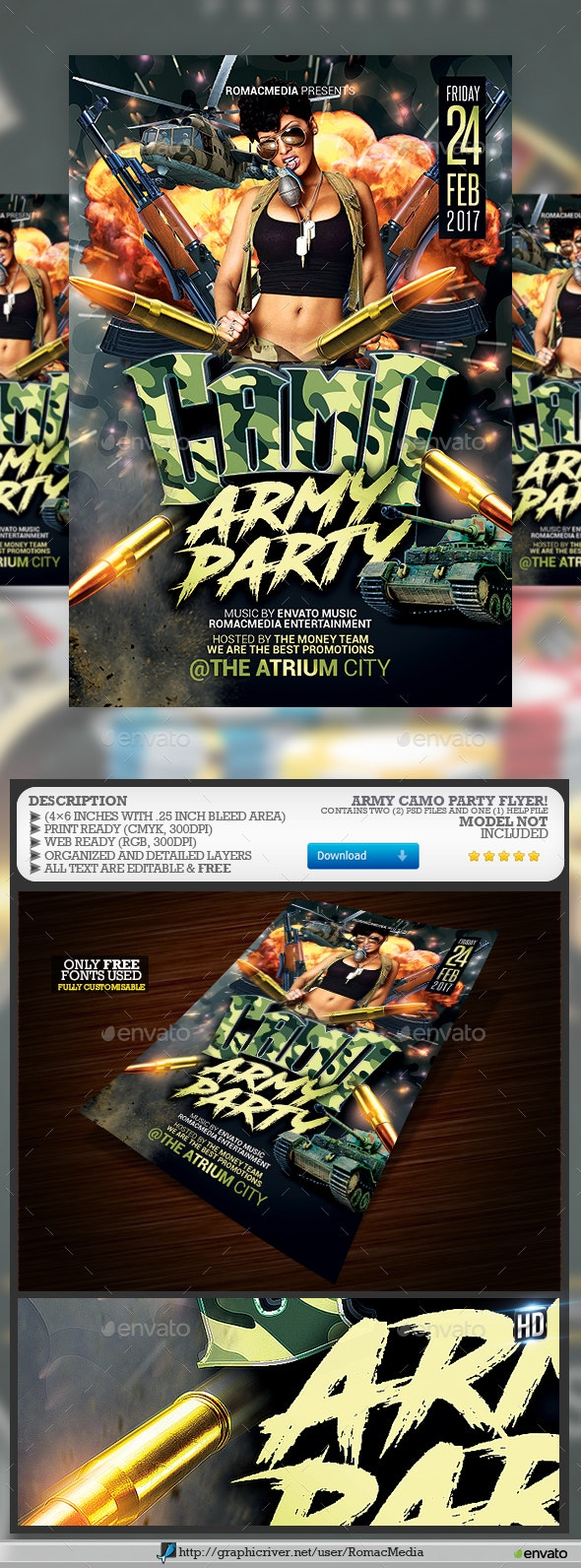 Army Camouflage Party - Clubs & Parties Events
