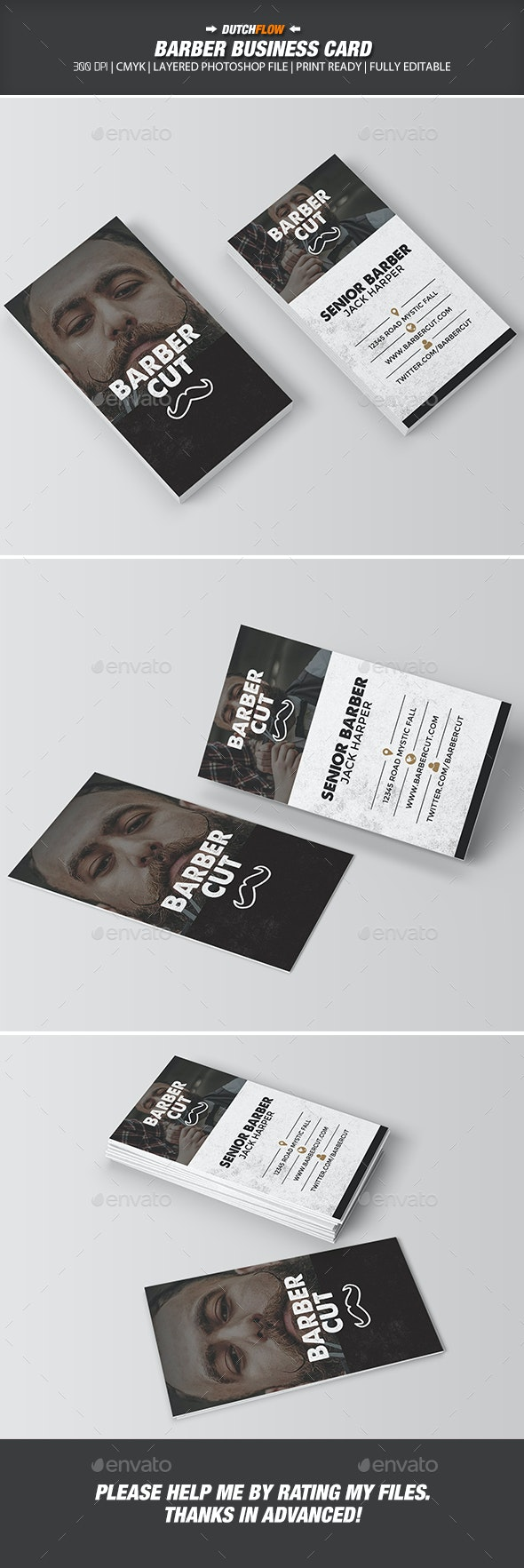 Barber Business Card - Industry Specific Business Cards
