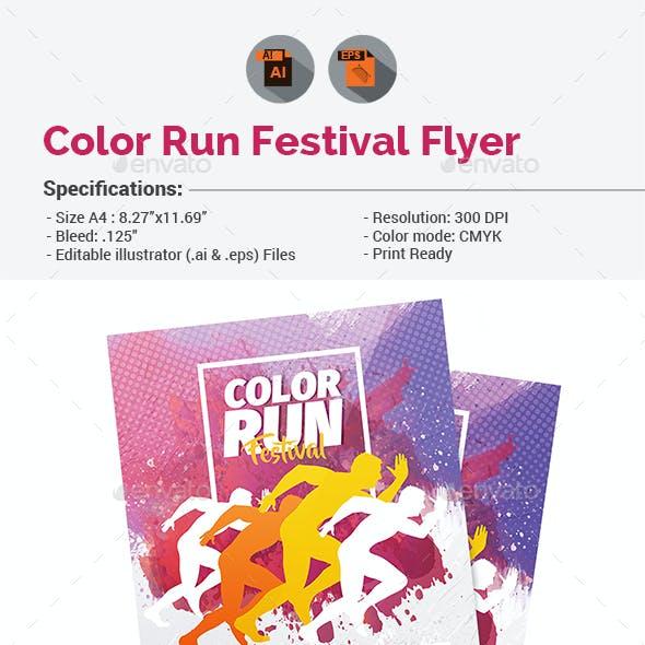 Color Run Festival Flyer