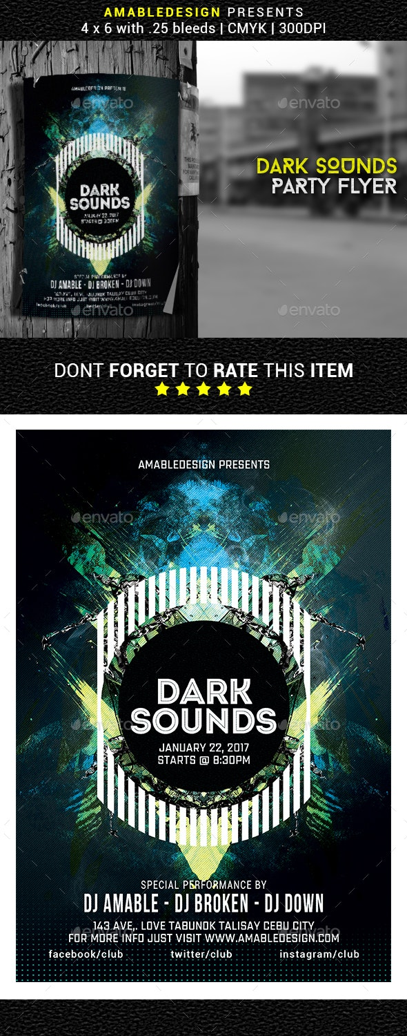 Dark Sounds Flyer/Poster - Events Flyers