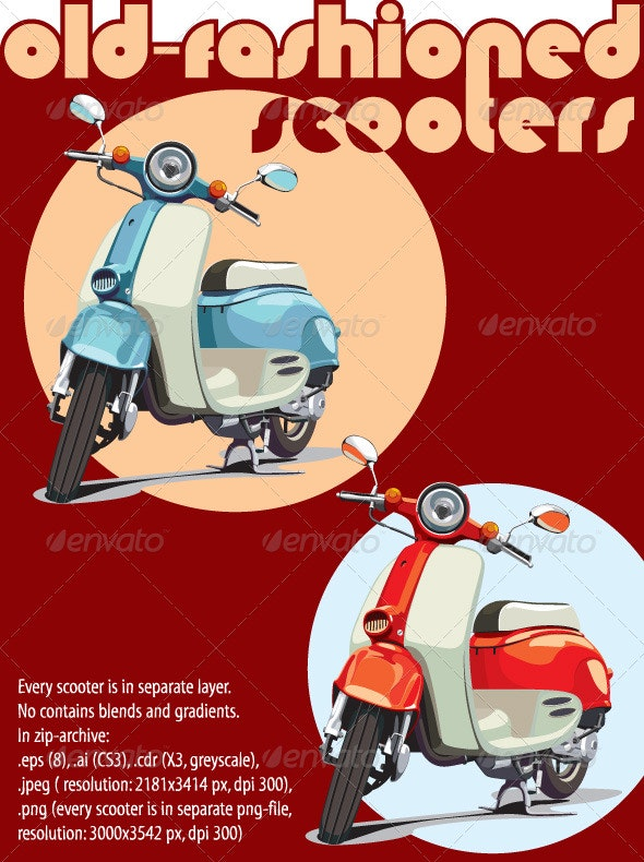 Old-fashioned scooter - Retro Technology
