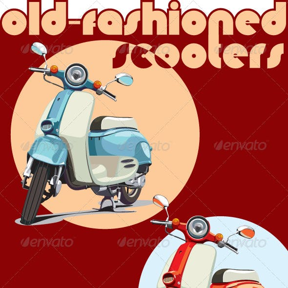Old-fashioned scooter