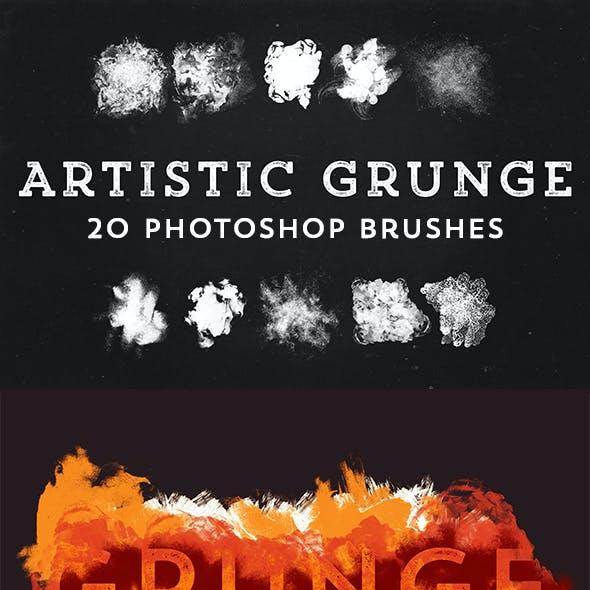 20 Grunge Artistic Brushes