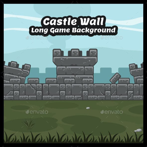 Castle Wall Tower Game Background