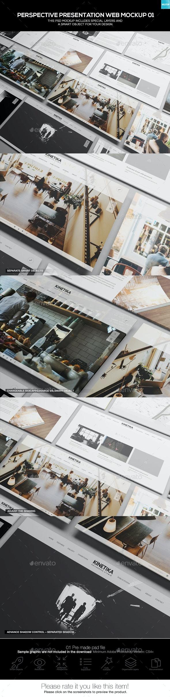 Perspective Presentation Web Mockup 01 - Website Displays