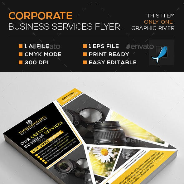 Corporate Business Services Flyer