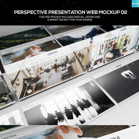 Perspective Presentation Web Mockup 02