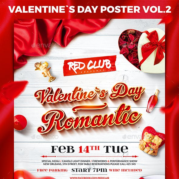 Valentine`s Day Party Poster vol.2