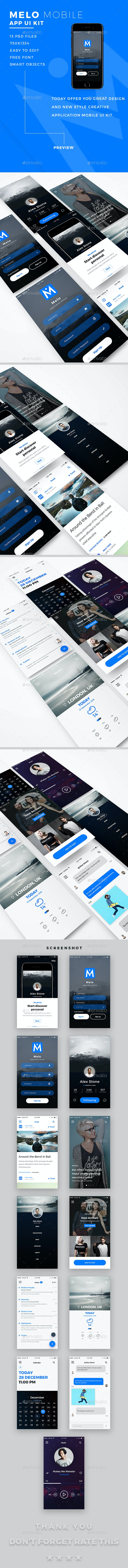 Melo App Ui Kit