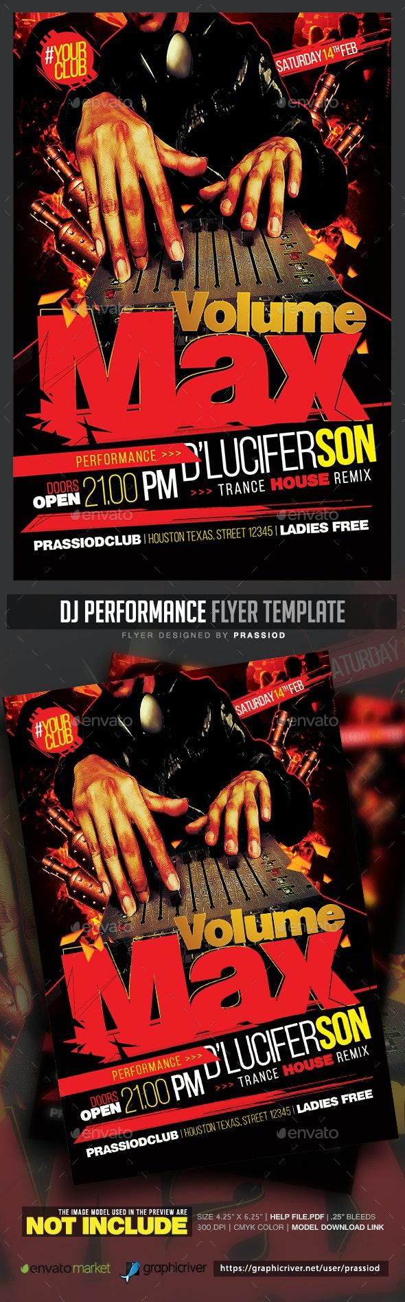DJ Performance Flyer Template - Events Flyers