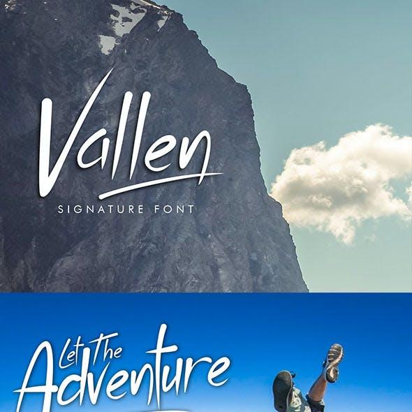 Vallen Typeface