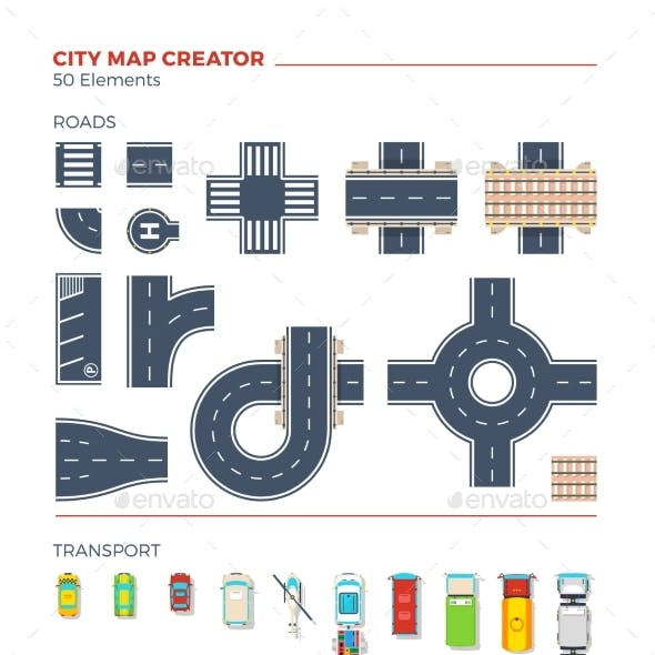 City Map Creator Top View