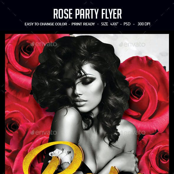 Rose Party Flyer