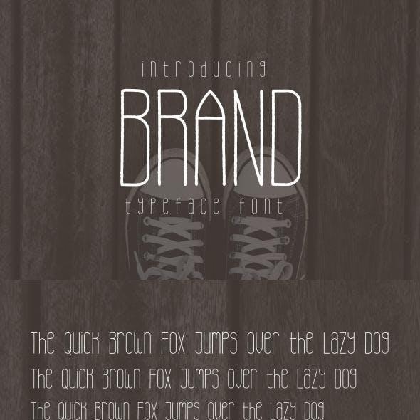 Brand Typeface Font