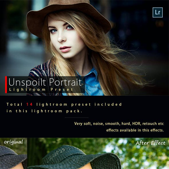 Unspoilt Portrait Lightroom Preset