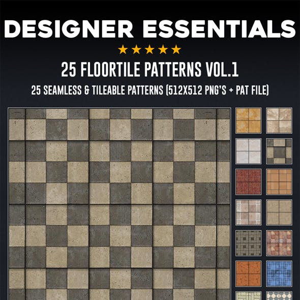25 Tileable / Seamless Floor Tile Patterns