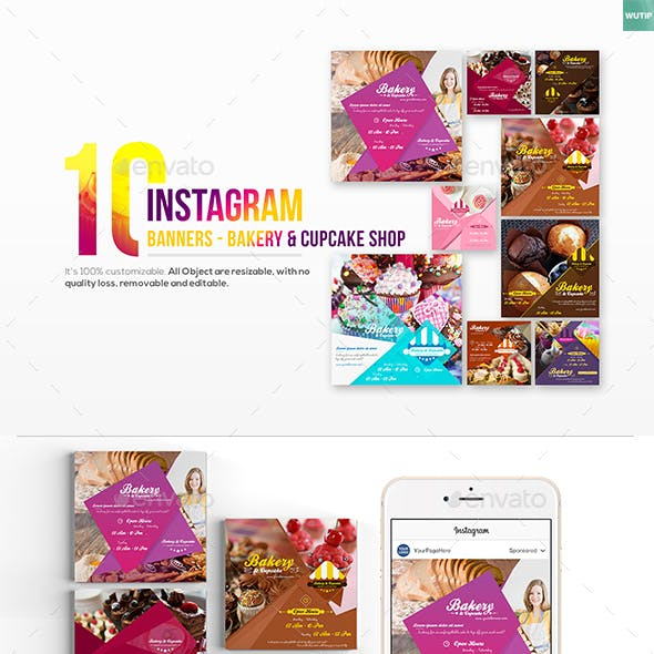 10 Instagram Post Banner - Bakery and Cupcake Shop
