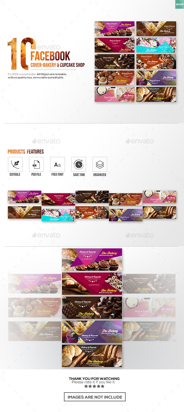 10 Facebook Cover-Bakery and Cupcake Shop - Facebook Timeline Covers Social Media