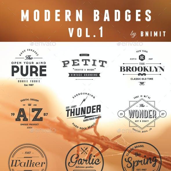 Modern Badges Vol.1