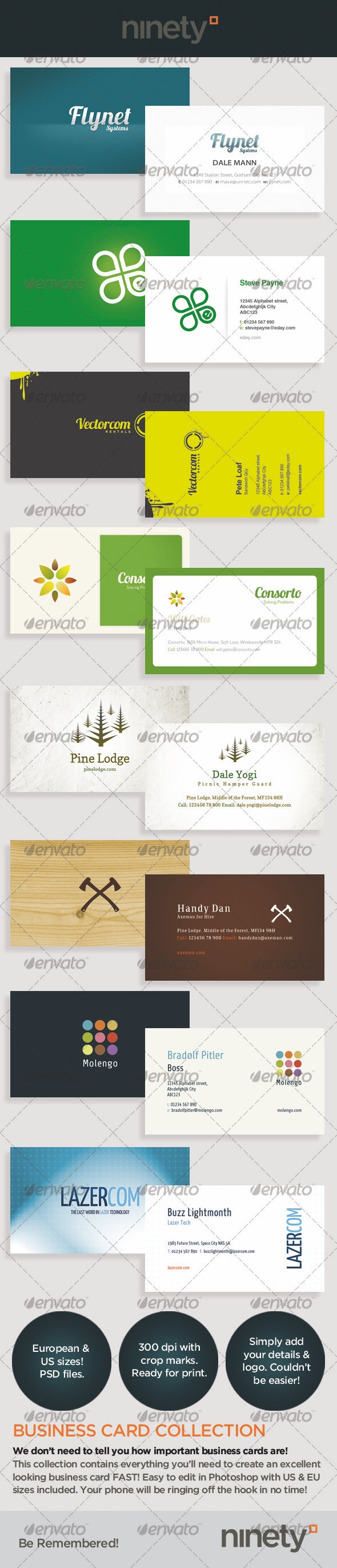 Business Card Collection - Corporate Business Cards