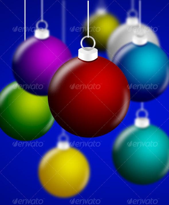 Christmas Balls - Stationery Print Templates