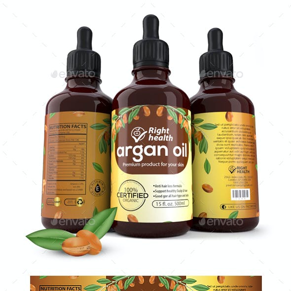 Argan Oil Label Templates