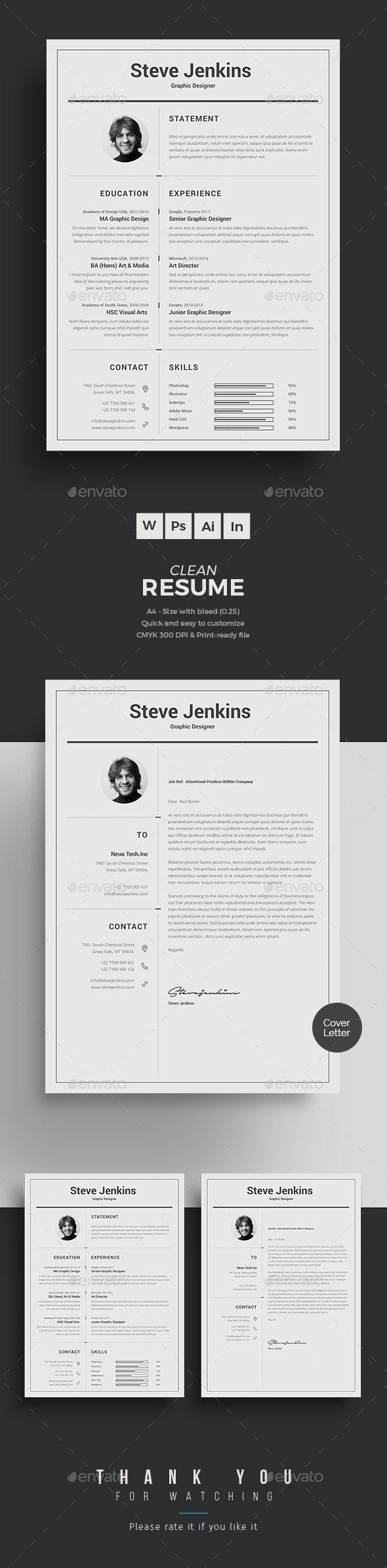 CV Word - Resumes Stationery