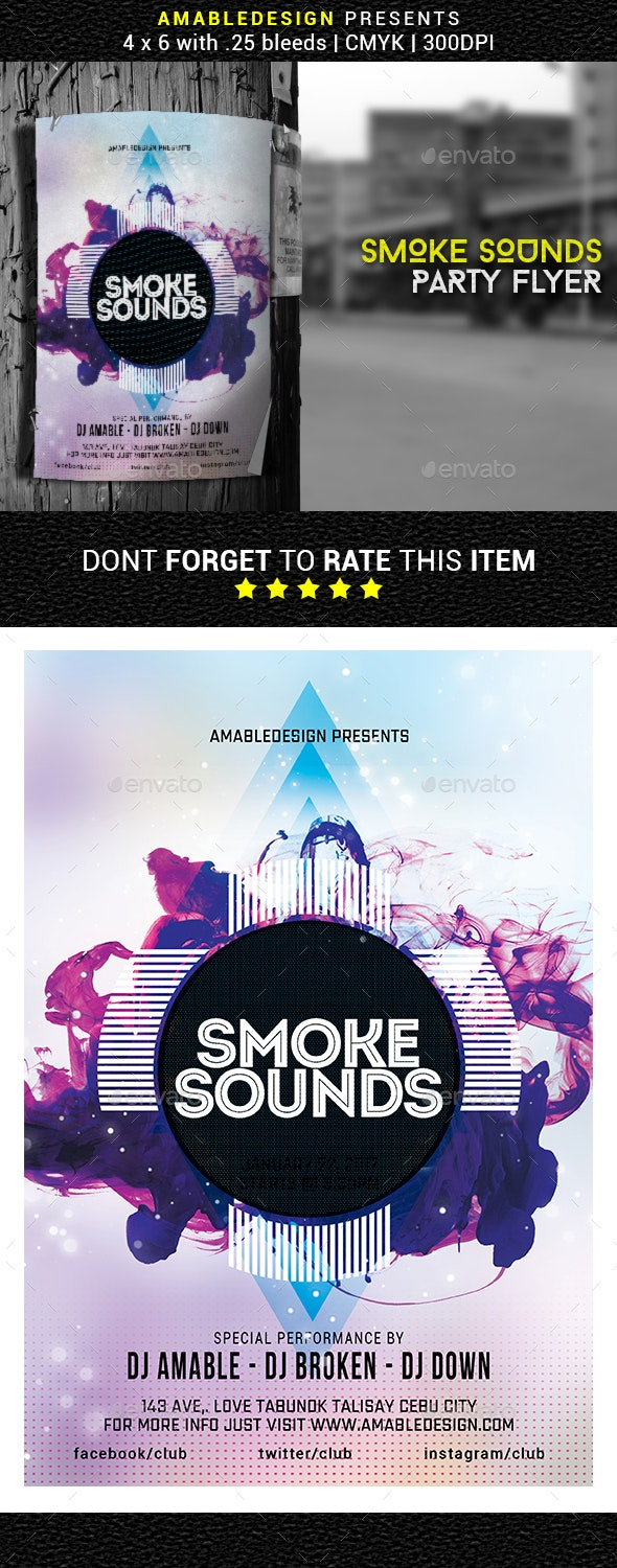 Smoke Sounds Flyer/Poster - Events Flyers