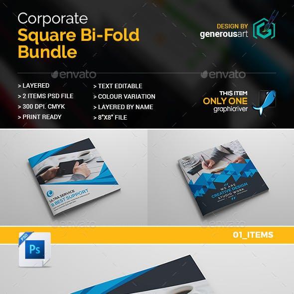 Square Bi-Fold Brochure 2 in 1