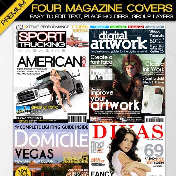 Four Premium Magazine Cover Designs