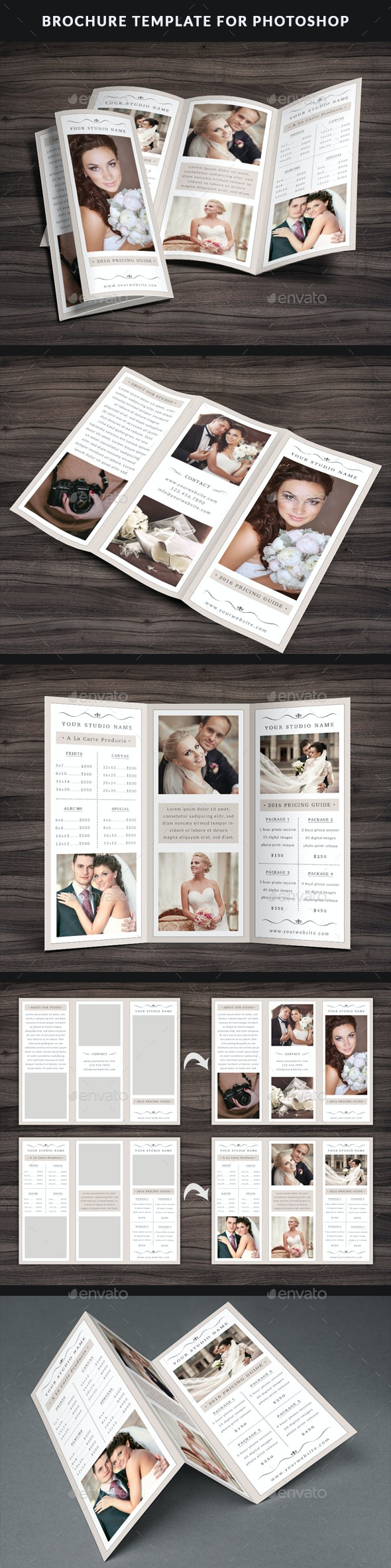 Photography Trifold Brochure Template - Brochures Print Templates