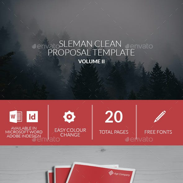 Sleman Clean Proposal Template Volume 2