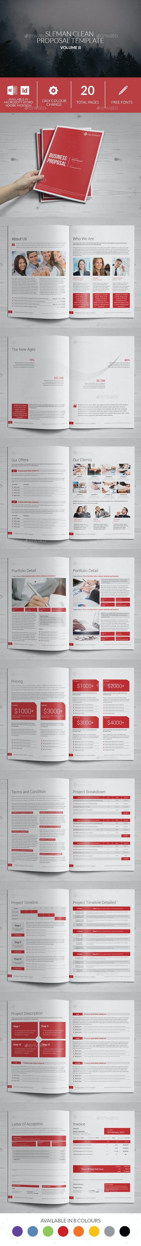 Sleman Clean Proposal Template Volume 2 - Proposals & Invoices Stationery