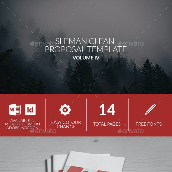 Sleman Clean Proposal Template Volume 4