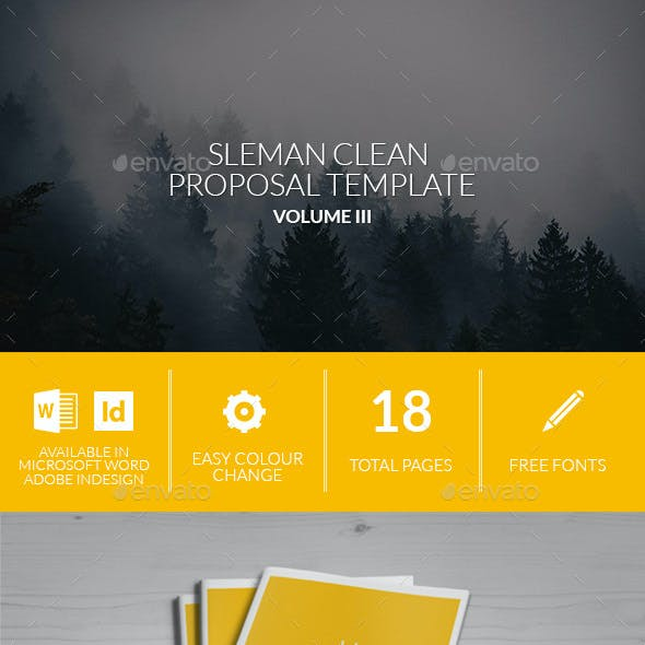 Sleman Clean Proposal Template Volume 3