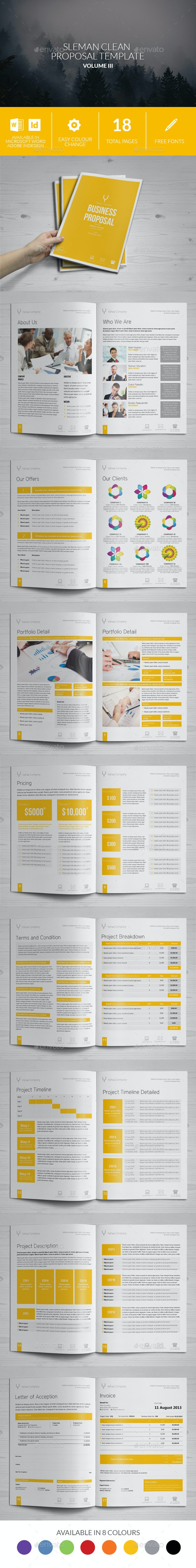 Sleman Clean Proposal Template Volume 3 - Proposals & Invoices Stationery