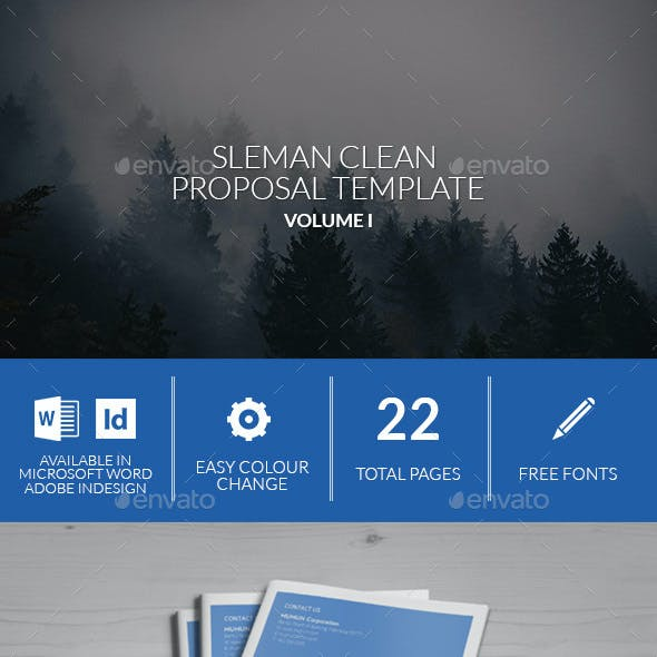 Sleman Clean Proposal Template