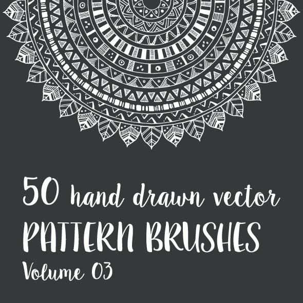 50 Hand Drawn Vector Pattern Brushes Vol. 03