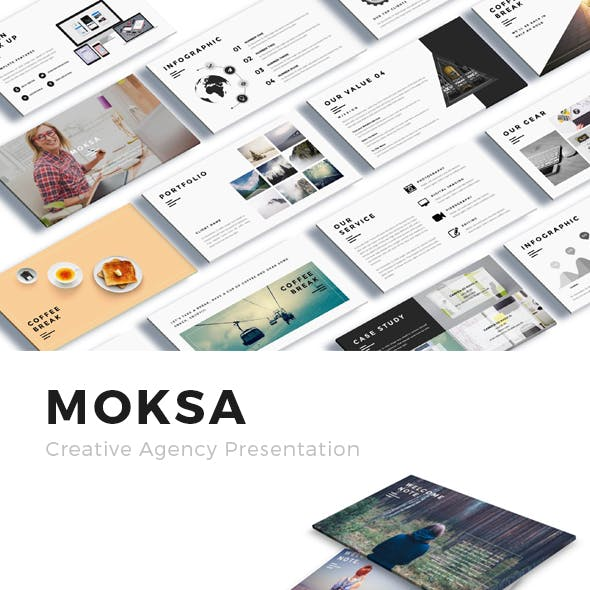 Moksa - Creative Agency Powerpoint Presentation