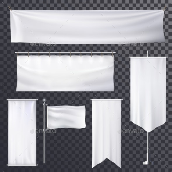Blank Poster or Banner Hanging Frame Template - Backgrounds Decorative