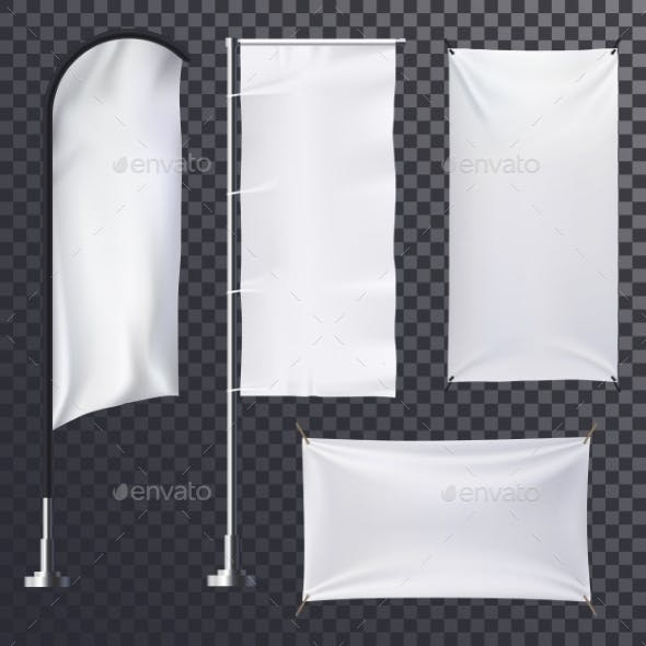 Advertising on Empty Banner or Poster Background