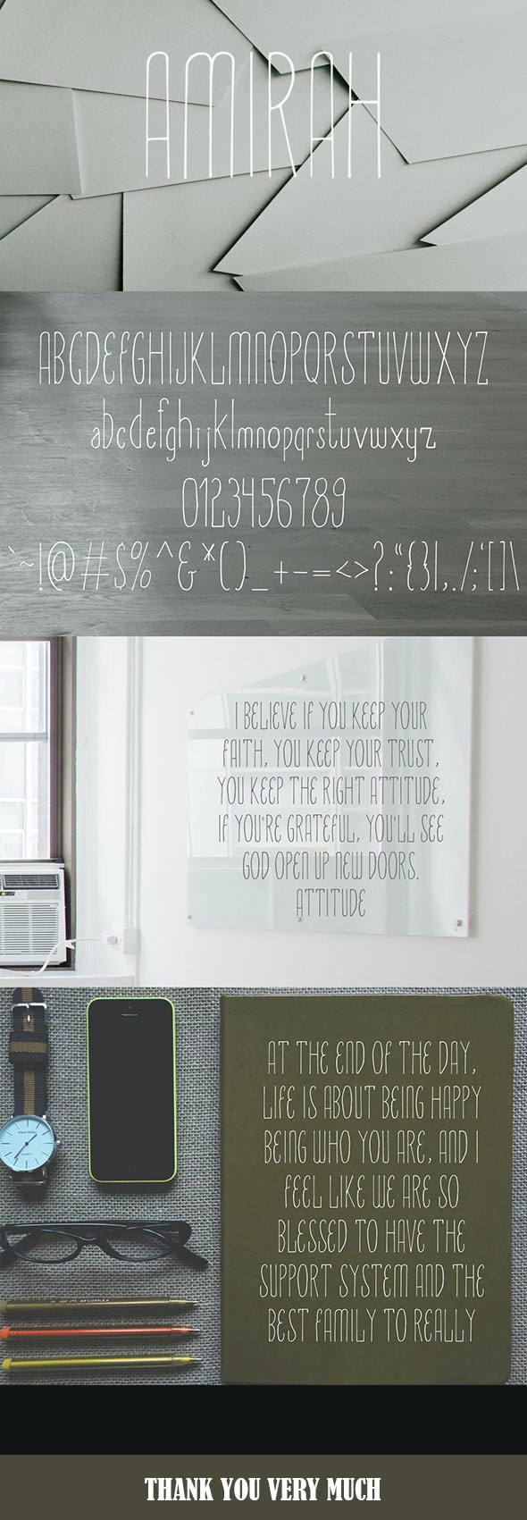 Amirah Display Typeface - Handwriting Fonts
