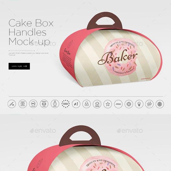 Handbag Cake Box Mock-up