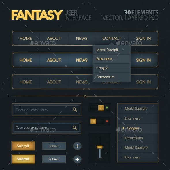 Fantasy User Interface