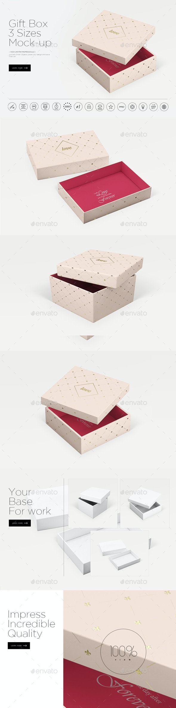 Gift Box Mock-up - Miscellaneous Packaging