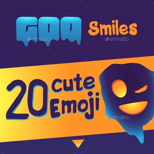 Goo Emoji / Smile Icon Set