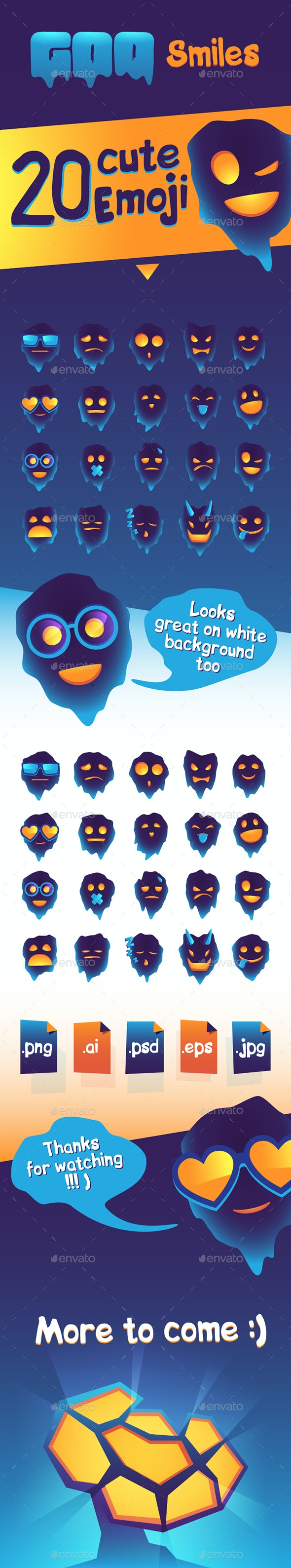 Goo Emoji / Smile Icon Set - Characters Icons