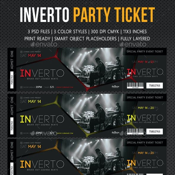 Inverto Party Event Ticket V3