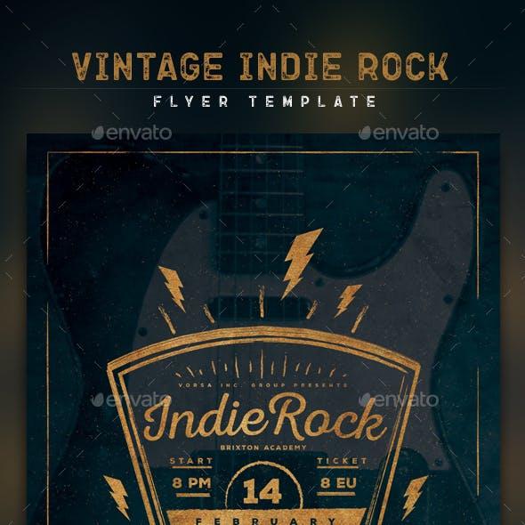 Vintage Indie Rock Flyer